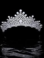 cheap -High-end Wild Bride Wedding Crown Pearl Zircon Wedding Headdress Wedding Hair Accessories Accessories Queen Crown