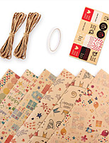 cheap -10pcs Diy Gift Wrapping Kit For Christmas Party Decorations 50*70cm (each pattern 1pc)