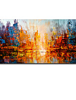 cheap -Oil Painting Handmade Hand Painted Wall Art Abstract Dusk Seascape Landscape Home Decoration Decor Rolled Canvas No Frame Unstretched