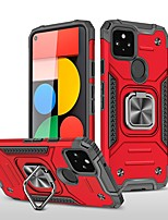 cheap -Phone Case For Google Back Cover Google Pixel 4a Google Pixel 5 Shockproof Dustproof with Stand Solid Colored TPU PC