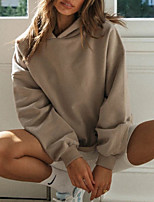 cheap -Women's Hoodie Hoodie Spandex Solid Color Sport Athleisure Hoodie Top Long Sleeve Thermal Breathable Soft Comfortable Everyday Use Casual Daily Outdoor Exercising / Winter