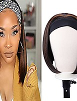 """cheap -straight headband wig 12 inch straight bob headband wigs for black women none lace half wigs natural heat resistant synthetic hair headband wig for cosplay party daily use (12""""straight,xc719)"""