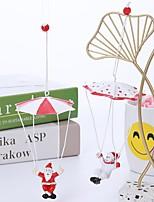 cheap -cross-border hot-selling resin christmas pendant christmas tree decorations mini parachute santa snowman