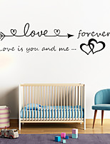cheap -Love Arrowheads Wall Stickers Living Room Kids Room Kindergarten Removable Pre-pasted PVC Home Decoration Wall Decal 1pc