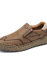 cheap -Men's Loafers & Slip-Ons Daily Synthetics Non-slipping Gray Black Brown Fall Spring