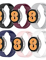cheap -no gaps design silicone band compatible with samsung galaxy watch 4 bands 44mm/40mm, galaxy watch 4 classic band 46mm/42mm, 20mm soft silicone wristbands replacement straps for women men(6 packs)