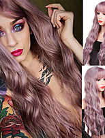 cheap -Synthetic Wig Curly Wavy Neat Bang Wig Long A1 A2 A3 A4 A5 Synthetic Hair Women's Soft Party Fashion Blonde