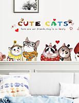 cheap -cute cat bedside bedroom sofa tv cabinet restaurant pet shop background decorative wall stickers