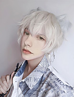 cheap -Synthetic Wig Curly Short Bob Wig Short White Synthetic Hair Men's Cosplay Soft Party White Brown