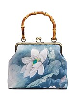 cheap -Women's Bags Polyester Evening Bag Chain Floral Print Vintage Party / Evening Evening Bag Chain Bag Blue