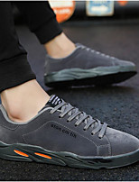 cheap -Men's Sneakers Lace up Retro Comfort Shoes Casual Classic Chinoiserie Daily Outdoor Suede Waterproof Non-slipping Wear Proof Red Gray Black Fall