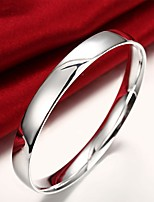 cheap -Men's Bracelet Wide Bangle Geometrical Precious Fashion Copper Bracelet Jewelry Silver For Christmas Party Wedding Daily Work / Silver Plated