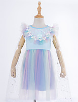 cheap -Princess Dress Kid's Girls' Dresses Halloween Halloween Halloween Children's Day Festival / Holiday Terylene Rainbow Easy Carnival Costumes Sequin