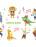 cheap -cartoon small animal concert children's bedroom entrance wall beautification decorative wall stickers self-adhesive