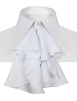cheap -Uniforms Cosplay Costume Adults' Men's Halloween Halloween Halloween Festival / Holiday Polyster White Men's Easy Carnival Costumes Solid Color / Collar