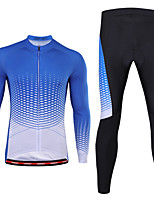 cheap -21Grams Men's Long Sleeve Cycling Jersey with Tights Winter Spandex Purple Blue Bike Quick Dry Moisture Wicking Sports Graphic Mountain Bike MTB Road Bike Cycling Clothing Apparel / Stretchy