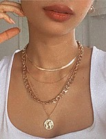 cheap -Pendant Necklace Necklace Women's Stacking Stackable Maps Unique Design Fashion Punk European Trendy Cool Gold 39-55 cm Necklace Jewelry for Wedding Street Gift Daily Festival