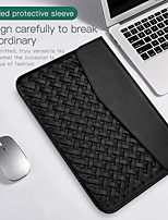cheap -13.3 Inch PU Leather Laptop Sleeve for MacBook  Weave Pattern Waterpoof Shock Proof Notebook Sleeve Bag
