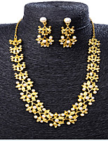 cheap -Women's Pearl Bridal Jewelry Sets Geometrical Floral Theme Fashion Earrings Jewelry Gold For Party Wedding Festival 1 set