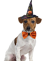 cheap -Halloween Pet Suit Wizard Hat Bow Tie Cat Dress Up Dog Funny Jewelry