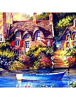 cheap -DIY 5D Diamond Painting Wall Home Decor Decoration Kits Rural Landscape for Adults Kids