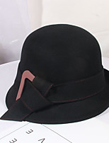 cheap -Women's Party Hat Party Wedding Street Bow Pure Color Wine Black Hat Gray Fall Winter
