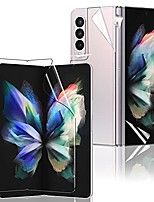 cheap -(3 pack)  compatible samsung galaxy z fold 3 screen protector soft hd clear film scratch resistant anti-fingerprints bubble free screen protector film for samsung galaxy z fold 3 5g 2021