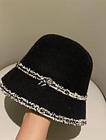 cheap -Elegant Fashion Wool Hats with Metallic Buckle / Sash / Ribbon / Color Block 1pc Casual / Tea Party Headpiece