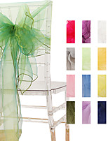 cheap -Set of 10 PCS Organza Banquet Chair Sash Sashes Bows Ties Back for Wedding Reception Events Banquets Chairs Decoration 275*60cm/108*23inch,Sage Green