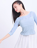 cheap -Activewear Top Solid Splicing Tulle Women's Training Performance Half Sleeve Nylon