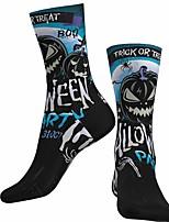 cheap -Socks Cycling Socks Men's Women's Bike / Cycling Breathable Soft Comfortable 1 Pair Graphic Cotton Black S M L / Stretchy