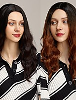 cheap -Long Straight 99J Wig With Bangs Synthetic Hair Wigs Bang With Wig For Women Wine Red Heat Resistant Wigs Free Cap