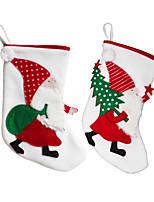cheap -Christmas Stocking Santa Claus Candy Bag Party Decoration Stocking Christmas Tree Pendant Gift Bag
