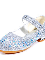 cheap -Girls' Heels Flower Girl Shoes Formal Shoes Princess Shoes School Shoes Rubber PU Walking Breathability Wedding Dress Shoes Big Kids(7years +) Little Kids(4-7ys) Daily Party & Evening Walking Shoes