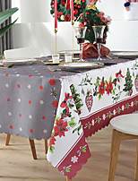 cheap -Christmas Tablecloth Holiday Tablecloth Easy to Take Care of Holiday Decoration