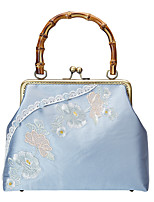 cheap -Women's Bags Polyester Evening Bag Chain Embroidery Vintage Party / Evening Daily Chain Bag Blue