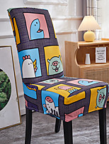 cheap -Stretch Kitchen Chair Cover Slipcover for Dinning Party Cartoon Four Seasons Universal Super Soft Fabric Retro Hot Sale