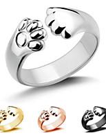 cheap -Men Women Open Ring Rose Gold Silver Gold Alloy Bear Stylish Simple Cute 1pc Adjustable / Women's / Couple's