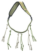 cheap -duck call lanyard paracord hunting goose calls 12 adjustable loops outdoor predator gear for pheasant waterfowl hand braided necklace (camo khaki)