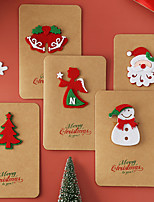 cheap -vintage kraft paper christmas greeting card handmade three-dimensional blessing thanksgiving christmas blessing gift card with envelope