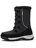 cheap -Women's Boots Flat Heel Round Toe Booties Ankle Boots Daily Outdoor Nubuck Nylon Solid Colored Gray Black