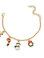 cheap -Women's Chain Bracelet Classic Santa Suits Stylish Alloy Bracelet Jewelry Rainbow For Christmas Street Festival