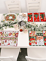 cheap -new christmas home decorations knitted cloth placemats knitted table mats tablecloths old man small tree placemats