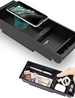 cheap -Car Qi Wireless Charger for F150 2015-2020 Center Console Organizer Box for Ford F150 Accessories F-150 2015 2016 2017 2018 2019 2020 Left Rudder
