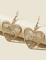 cheap -Women's Drop Earrings Transparent Petal Vintage Modern Cute Sweet Earrings Jewelry Gold For Party Gift Daily Prom Club 2pcs