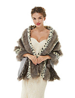 cheap -Sleeveless Shawls Faux Fur Wedding / Party / Evening Women's Wrap With Leopard