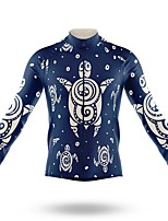cheap -21Grams Men's Long Sleeve Cycling Jersey Spandex Polyester Royal Blue 3D Funny Animal Bike Top Mountain Bike MTB Road Bike Cycling Quick Dry Moisture Wicking Breathable Sports Clothing Apparel