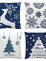 cheap -Christmas Santa Claus Double Side Cushion Cover 4PC Soft Decorative Square Throw Pillow Cover Cushion Case Pillowcase for Bedroom Livingroom Superior Quality Machine Washable Indoor Cushion for Sofa Couch Bed Chair