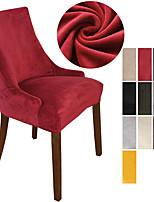cheap -Stretch Armless Wingback Chair Cover Armchair Cover Reusable Wingback Side Chair Velvet Slipcovers Accent Chair Covers for Dining Room Banquet Home Decor