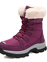 cheap -Women's Boots Flat Heel Round Toe Booties Ankle Boots Daily Outdoor PU Solid Colored Fuchsia Black / Booties / Ankle Boots